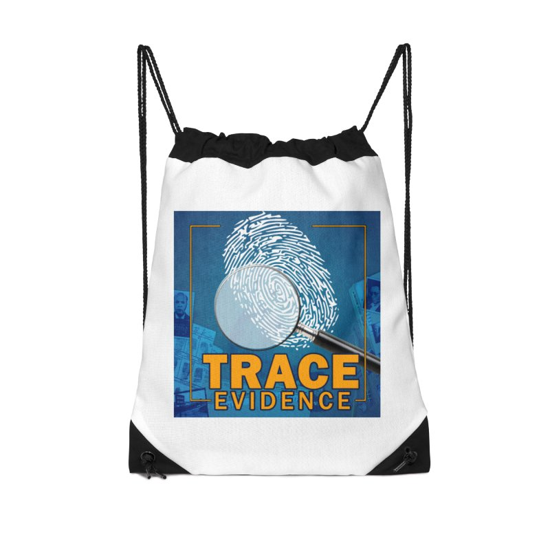 Old School Accessories Drawstring Bag Bag by Trace Evidence - A True Crime Podcast