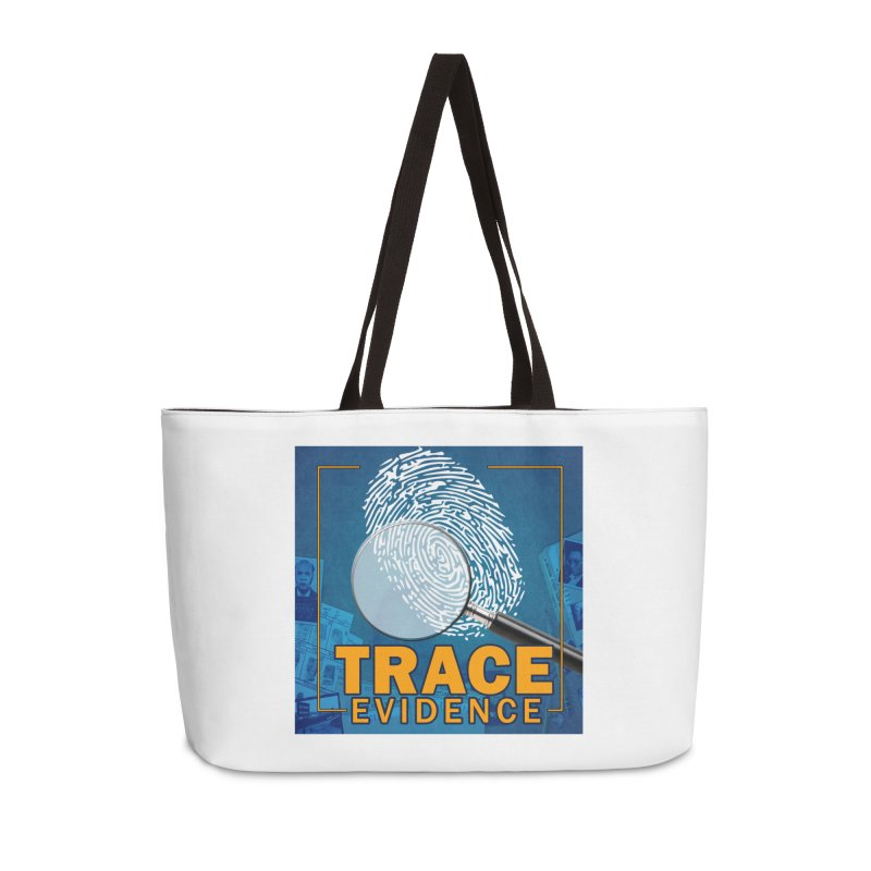 Old School Accessories Weekender Bag Bag by Trace Evidence - A True Crime Podcast