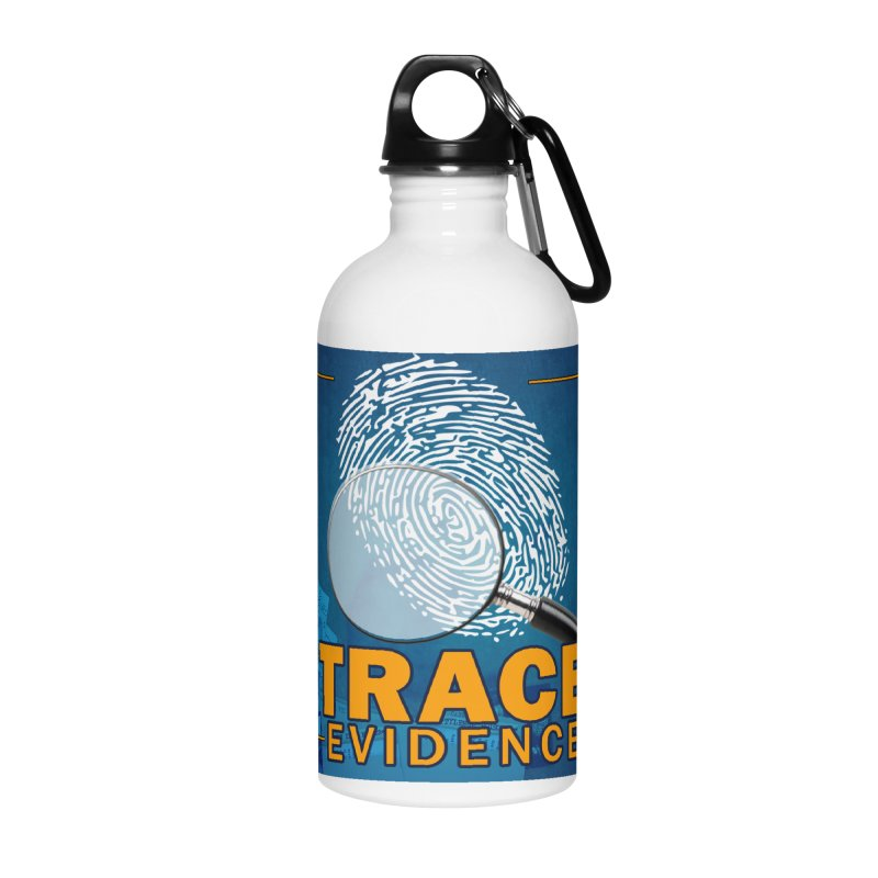 Old School Accessories Water Bottle by Trace Evidence - A True Crime Podcast