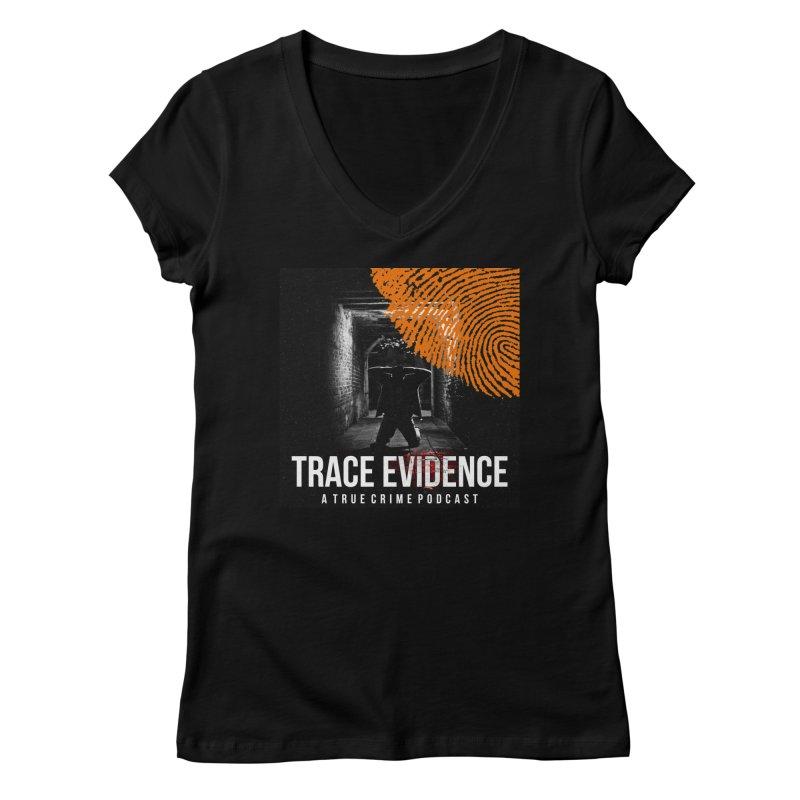 Trace Evidence in Orange Women's V-Neck by Trace Evidence - A True Crime Podcast