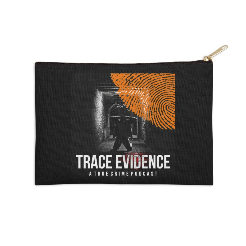 Trace Evidence in Orange Accessories Zip Pouch by Trace Evidence - A True Crime Podcast
