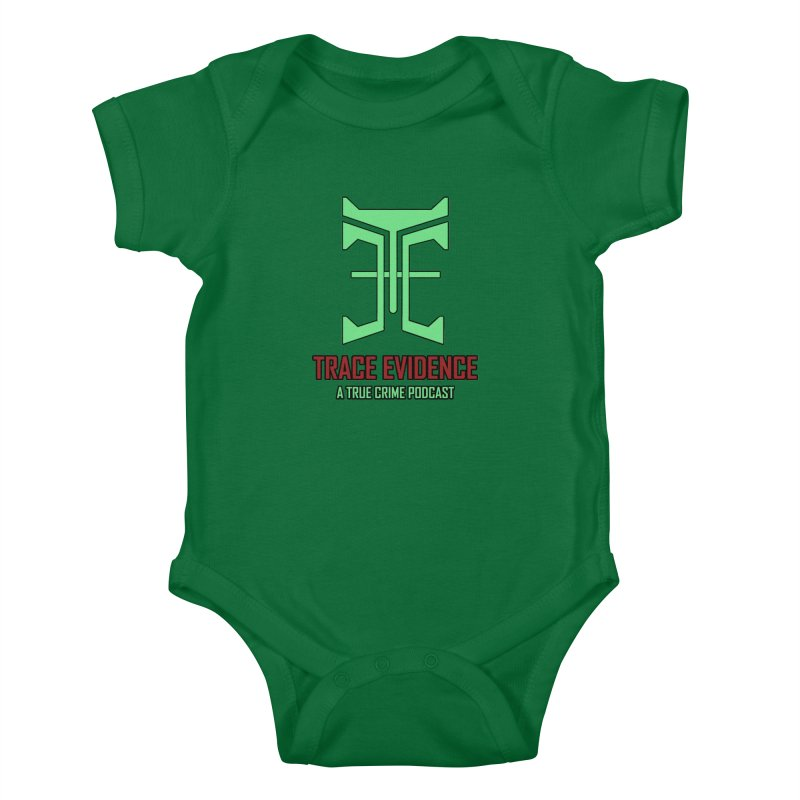 Hyper Logo Kids Baby Bodysuit by Trace Evidence - A True Crime Podcast