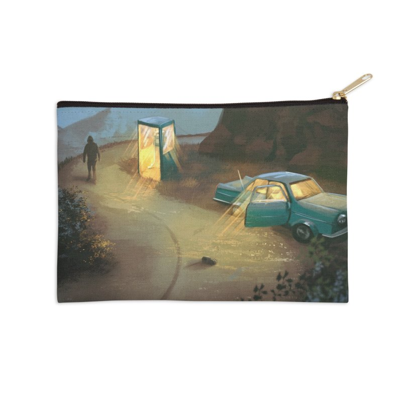 Lost Highway Accessories Zip Pouch by Trace Evidence - A True Crime Podcast