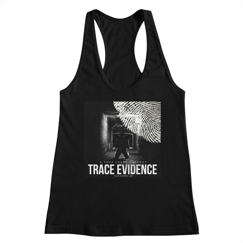 Trace Evidence Logo Women's Racerback Tank by Trace Evidence - A True Crime Podcast