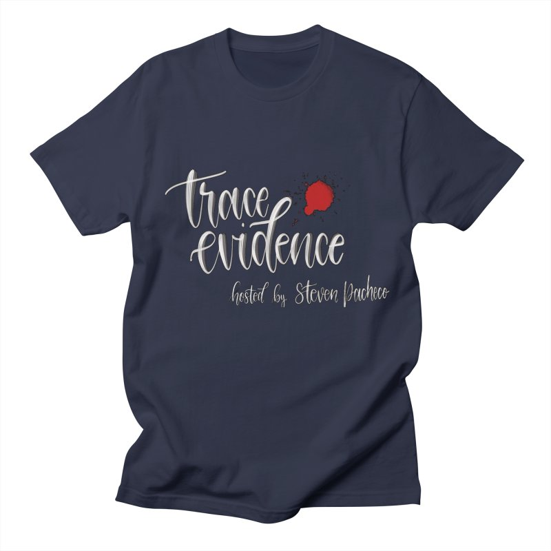 Trace Evidence - Script Men's Regular T-Shirt by Trace Evidence - A True Crime Podcast