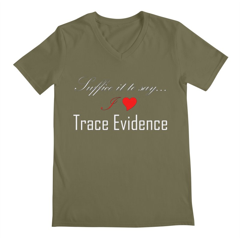 Suffice it to Say.... Men's Regular V-Neck by Trace Evidence - A True Crime Podcast