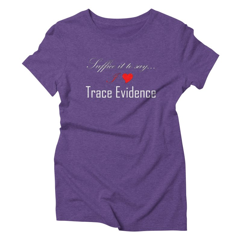 Suffice it to Say.... Women's Triblend T-Shirt by Trace Evidence - A True Crime Podcast