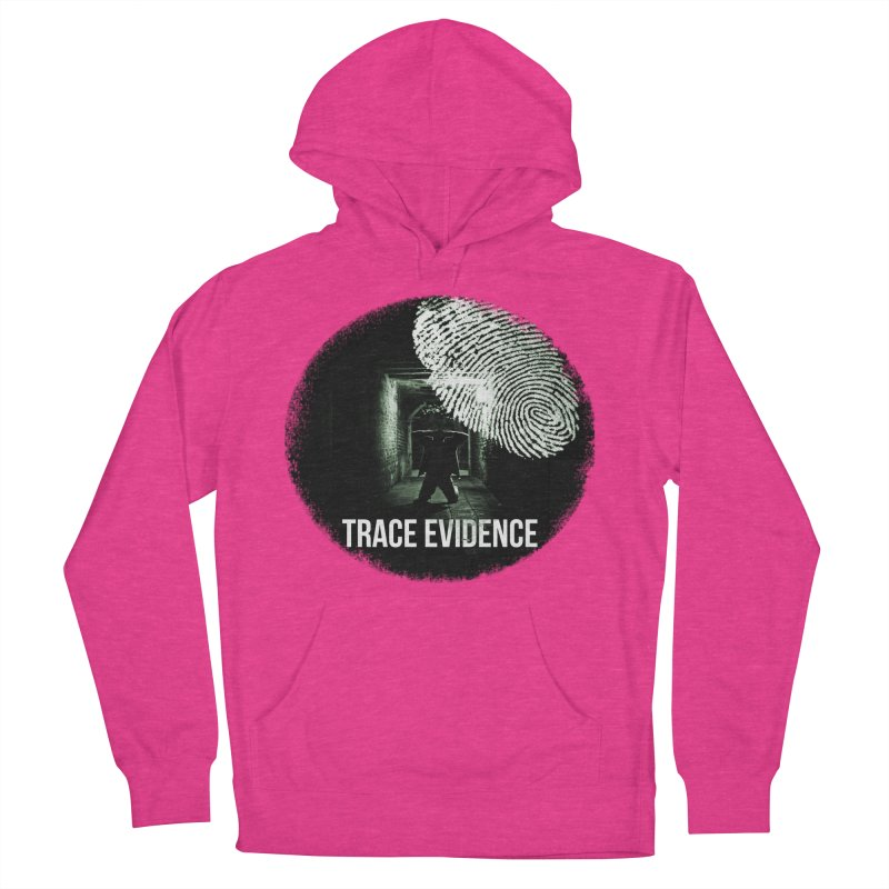 Stressed Logo Women's French Terry Pullover Hoody by Trace Evidence - A True Crime Podcast