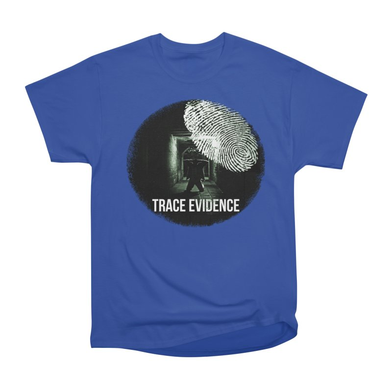 Stressed Logo Women's Heavyweight Unisex T-Shirt by Trace Evidence - A True Crime Podcast