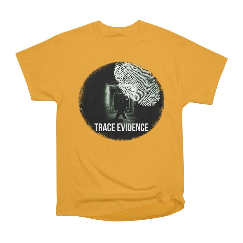 Stressed Logo Men's Heavyweight T-Shirt by Trace Evidence - A True Crime Podcast