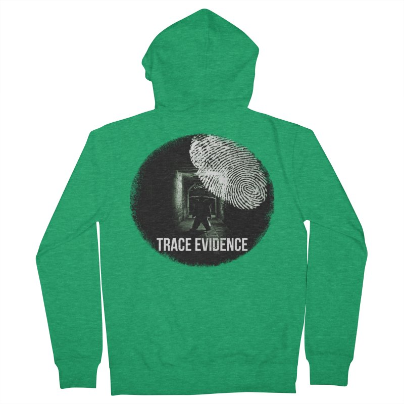 Stressed Logo Women's French Terry Zip-Up Hoody by Trace Evidence - A True Crime Podcast