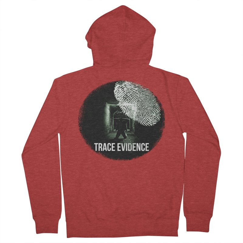Stressed Logo Men's French Terry Zip-Up Hoody by Trace Evidence - A True Crime Podcast