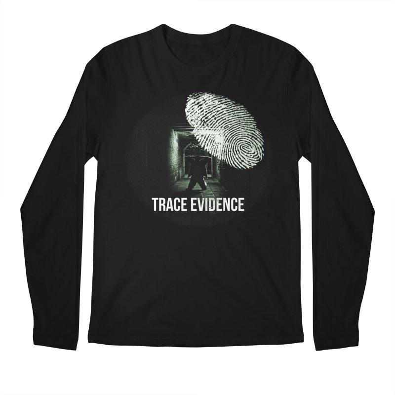 Stressed Logo Men's Regular Longsleeve T-Shirt by Trace Evidence - A True Crime Podcast