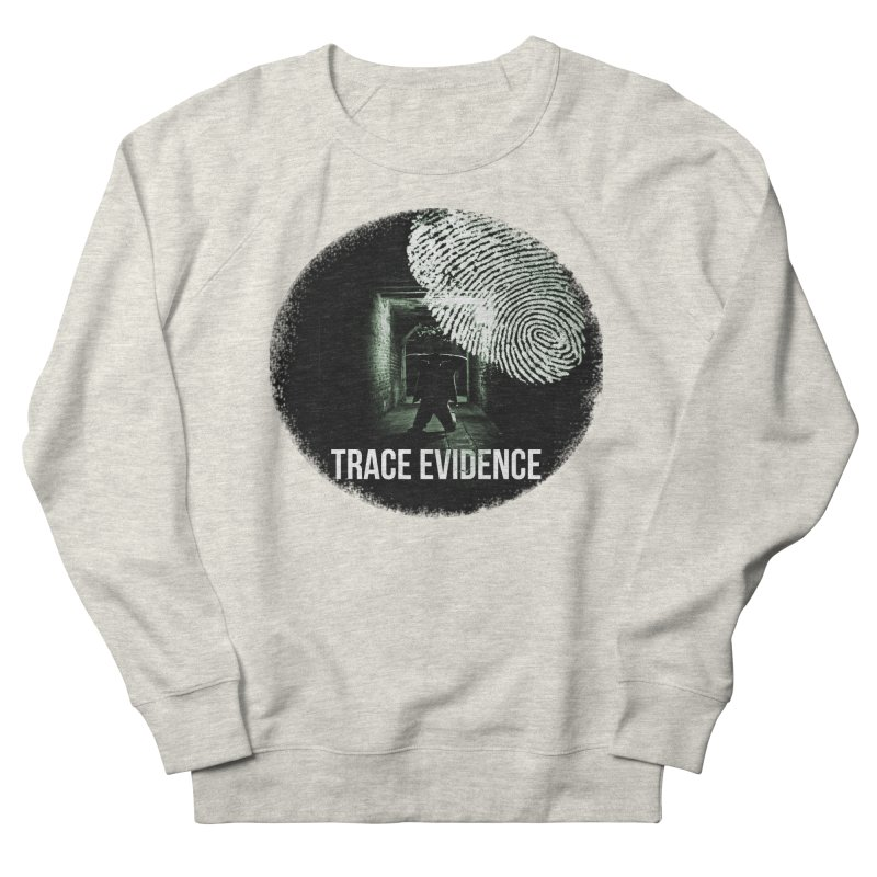 Stressed Logo Men's French Terry Sweatshirt by Trace Evidence - A True Crime Podcast