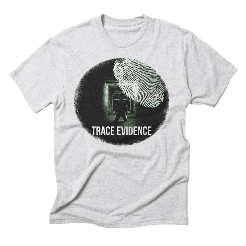 Stressed Logo Men's Triblend T-Shirt by Trace Evidence - A True Crime Podcast