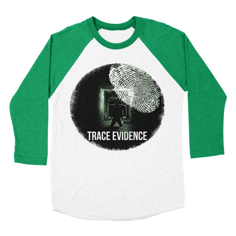 Stressed Logo Women's Baseball Triblend Longsleeve T-Shirt by Trace Evidence - A True Crime Podcast