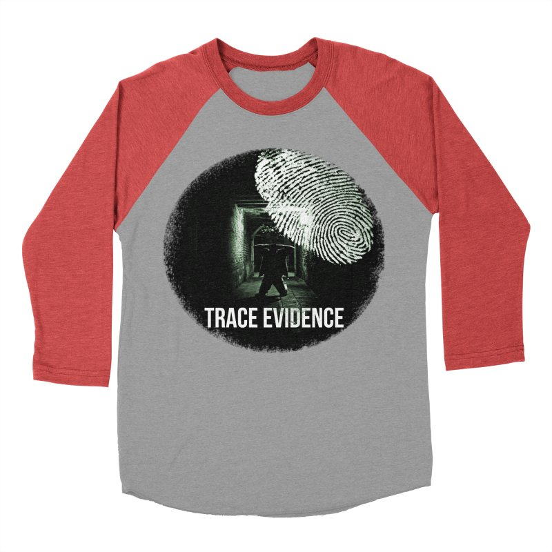 Stressed Logo Men's Baseball Triblend Longsleeve T-Shirt by Trace Evidence - A True Crime Podcast