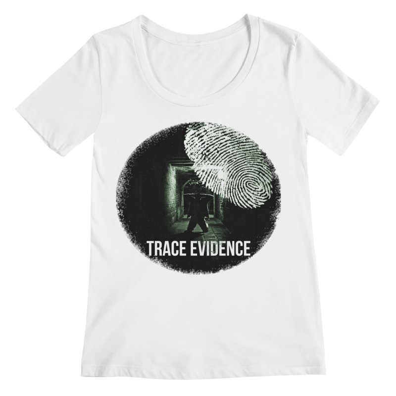 Stressed Logo Women's Regular Scoop Neck by Trace Evidence - A True Crime Podcast