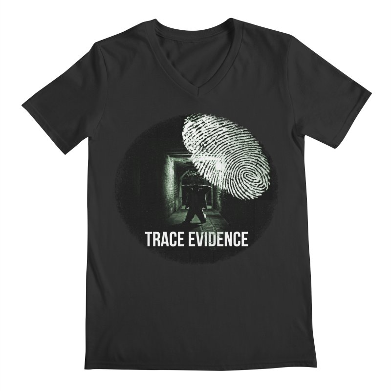 Stressed Logo Men's V-Neck by Trace Evidence - A True Crime Podcast