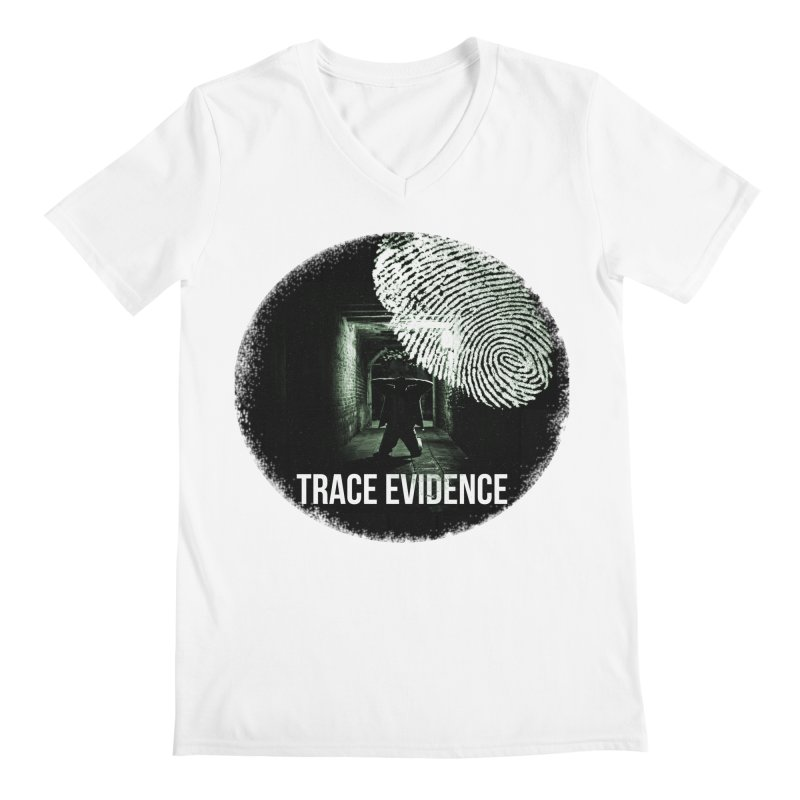 Stressed Logo Men's V-Neck by Trace Evidence - A True Crime Podcast
