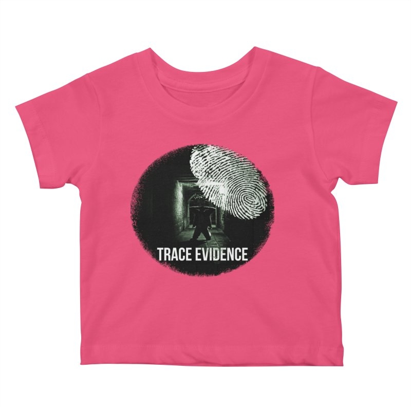 Stressed Logo Kids Baby T-Shirt by Trace Evidence - A True Crime Podcast