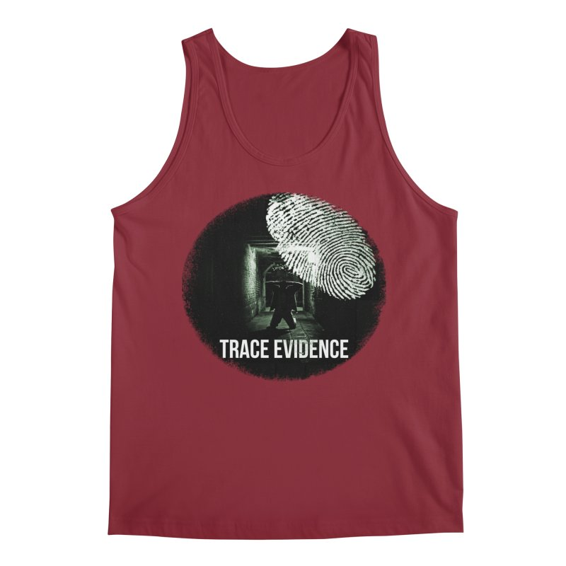 Stressed Logo Men's Tank by Trace Evidence - A True Crime Podcast