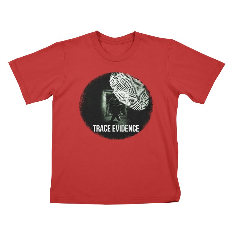 Stressed Logo Kids T-Shirt by Trace Evidence - A True Crime Podcast