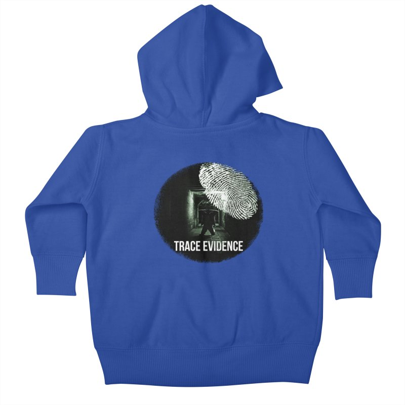 Stressed Logo Kids Baby Zip-Up Hoody by Trace Evidence - A True Crime Podcast