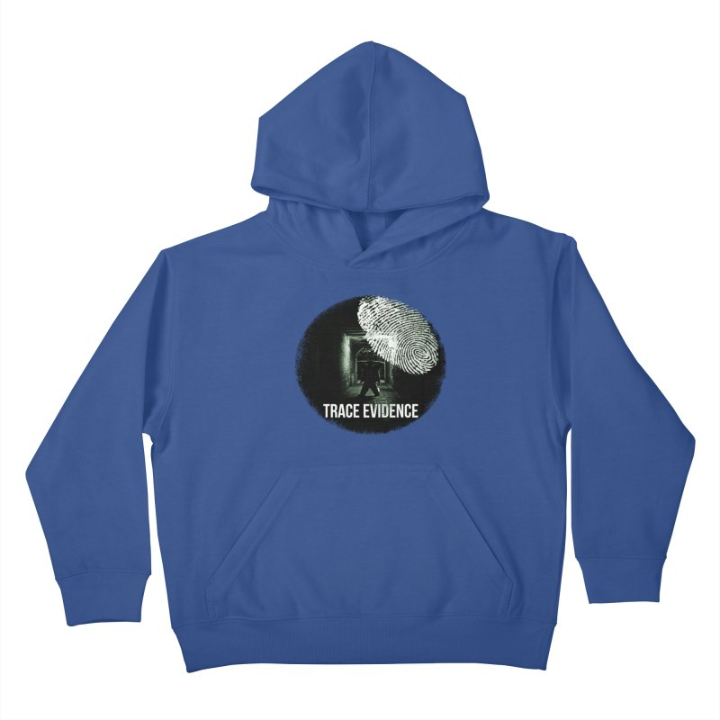 Stressed Logo Kids Pullover Hoody by Trace Evidence - A True Crime Podcast