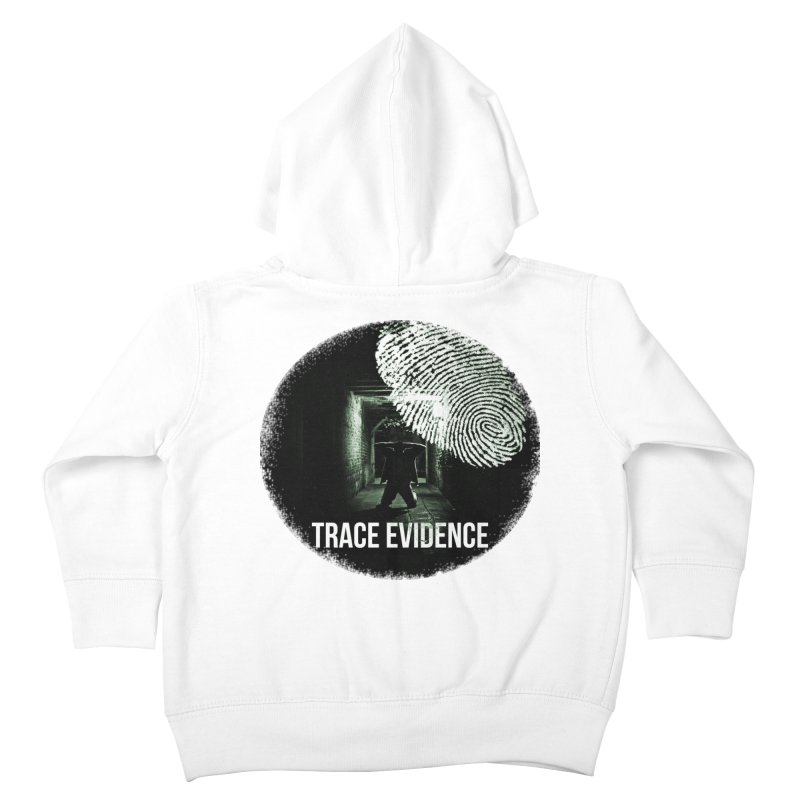 Stressed Logo Kids Toddler Zip-Up Hoody by Trace Evidence - A True Crime Podcast