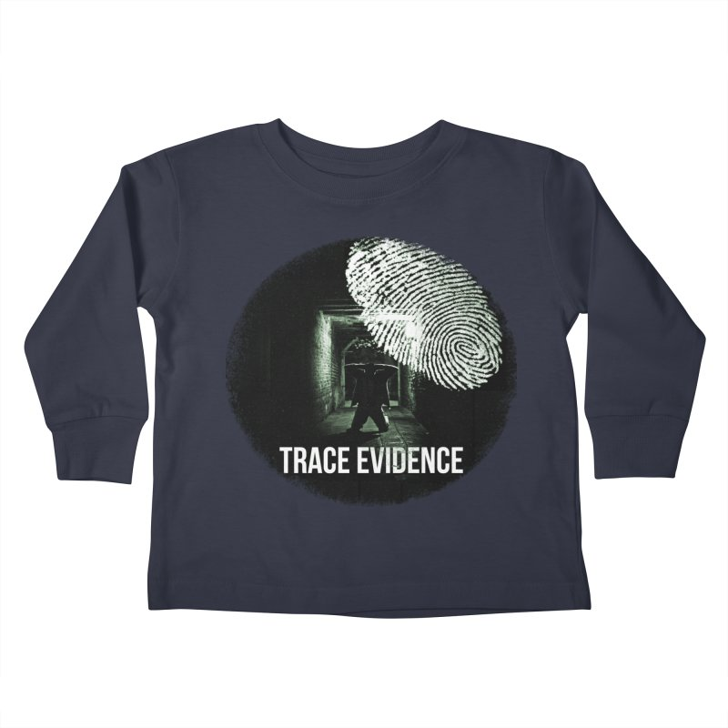 Stressed Logo Kids Toddler Longsleeve T-Shirt by Trace Evidence - A True Crime Podcast