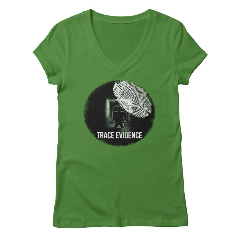 Stressed Logo Women's Regular V-Neck by Trace Evidence - A True Crime Podcast