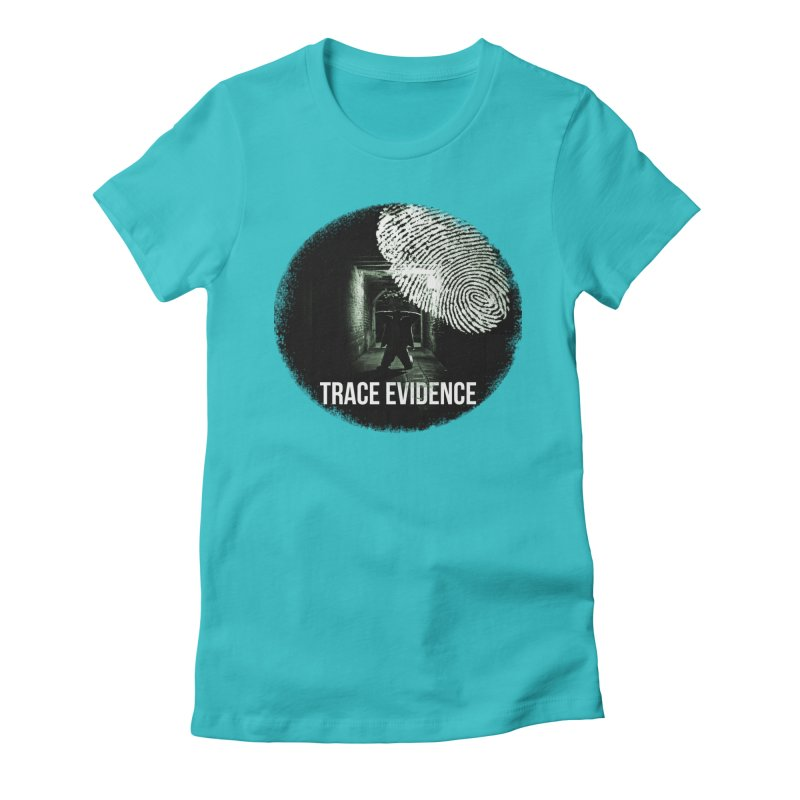 Stressed Logo Women's Fitted T-Shirt by Trace Evidence - A True Crime Podcast