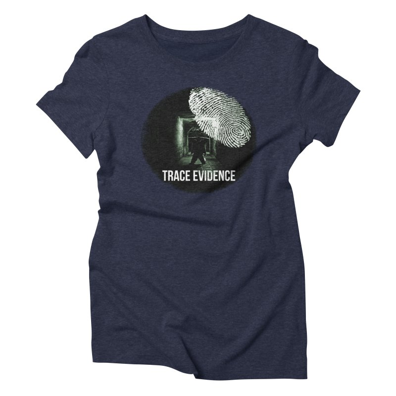 Stressed Logo Women's Triblend T-Shirt by Trace Evidence - A True Crime Podcast