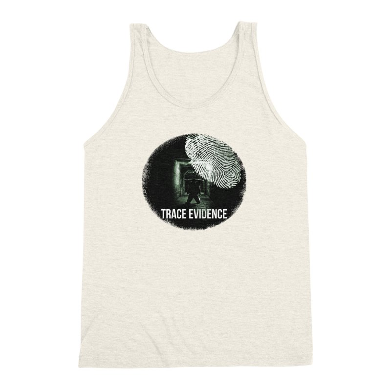 Stressed Logo Men's Triblend Tank by Trace Evidence - A True Crime Podcast
