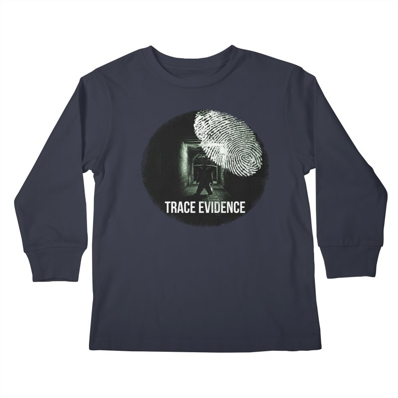 Stressed Logo Kids Longsleeve T-Shirt by Trace Evidence - A True Crime Podcast