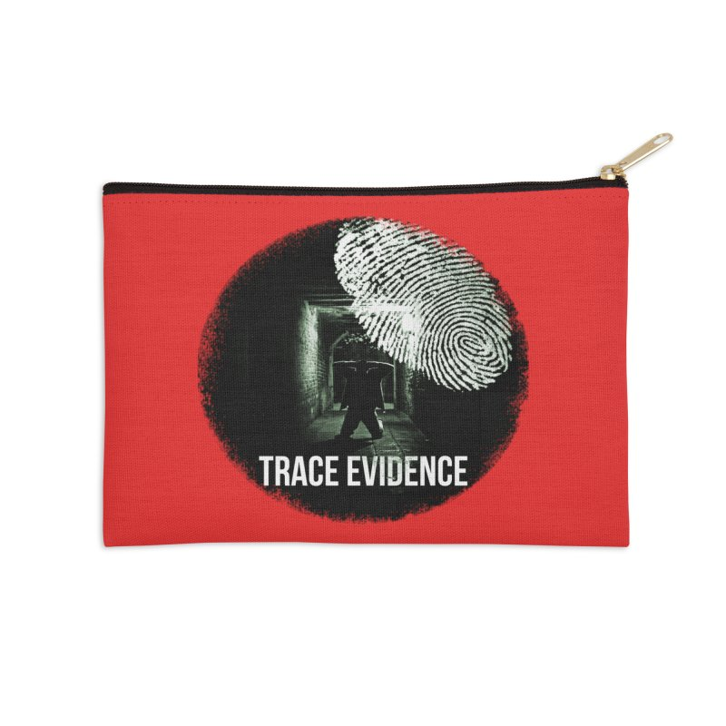 Stressed Logo Accessories Zip Pouch by Trace Evidence - A True Crime Podcast