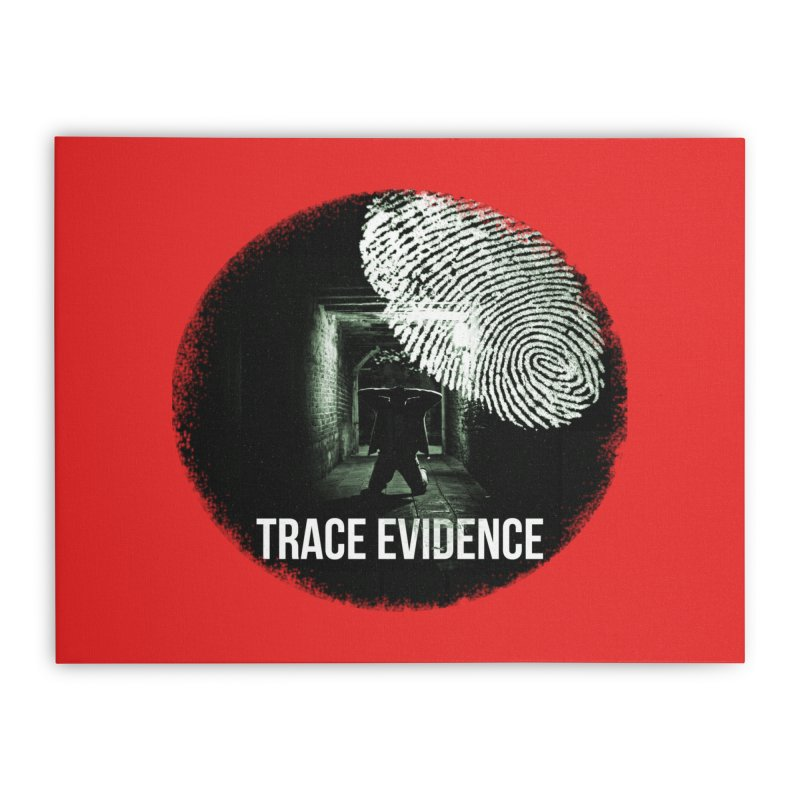 Stressed Logo Home Stretched Canvas by Trace Evidence - A True Crime Podcast