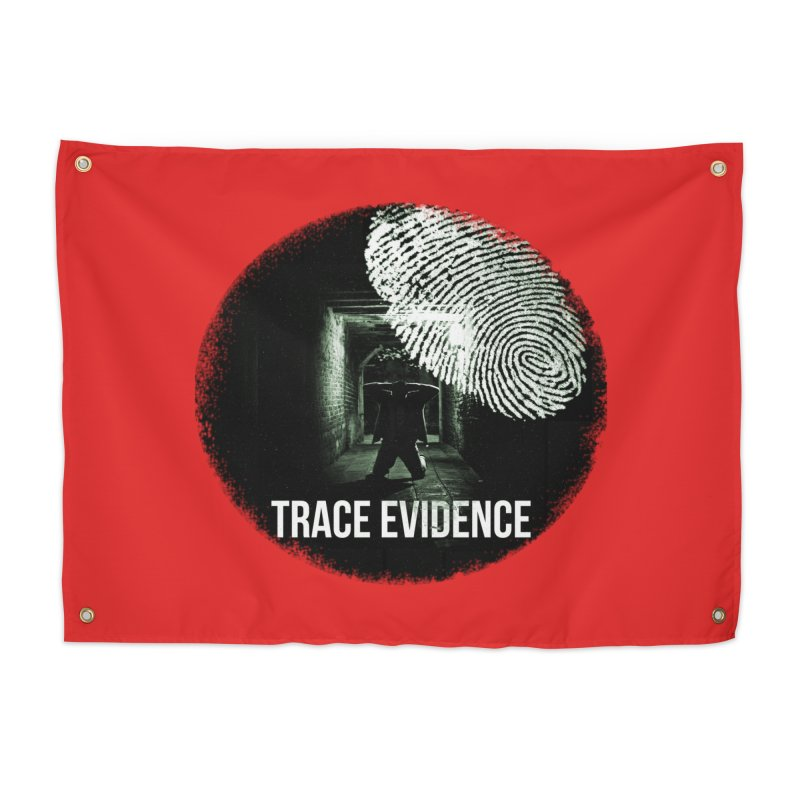 Stressed Logo Home Tapestry by Trace Evidence - A True Crime Podcast