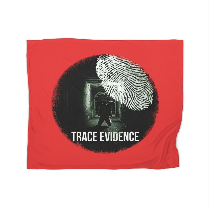 Stressed Logo Home Blanket by Trace Evidence - A True Crime Podcast