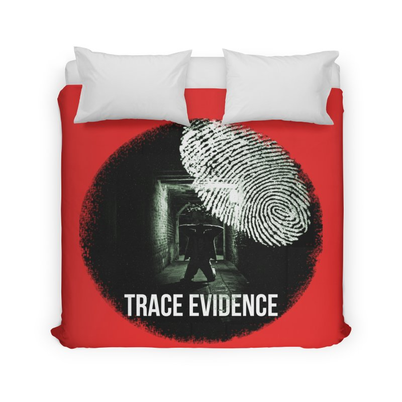 Stressed Logo Home Duvet by Trace Evidence - A True Crime Podcast