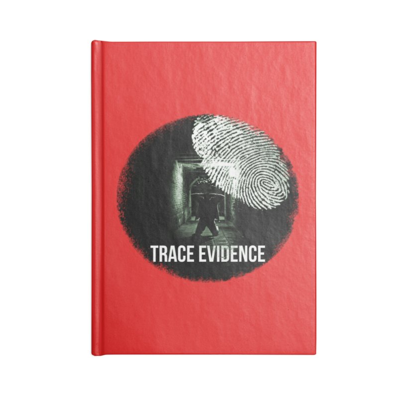 Stressed Logo Accessories Blank Journal Notebook by Trace Evidence - A True Crime Podcast