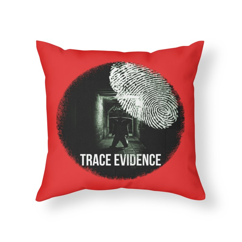 Stressed Logo Home Throw Pillow by Trace Evidence - A True Crime Podcast