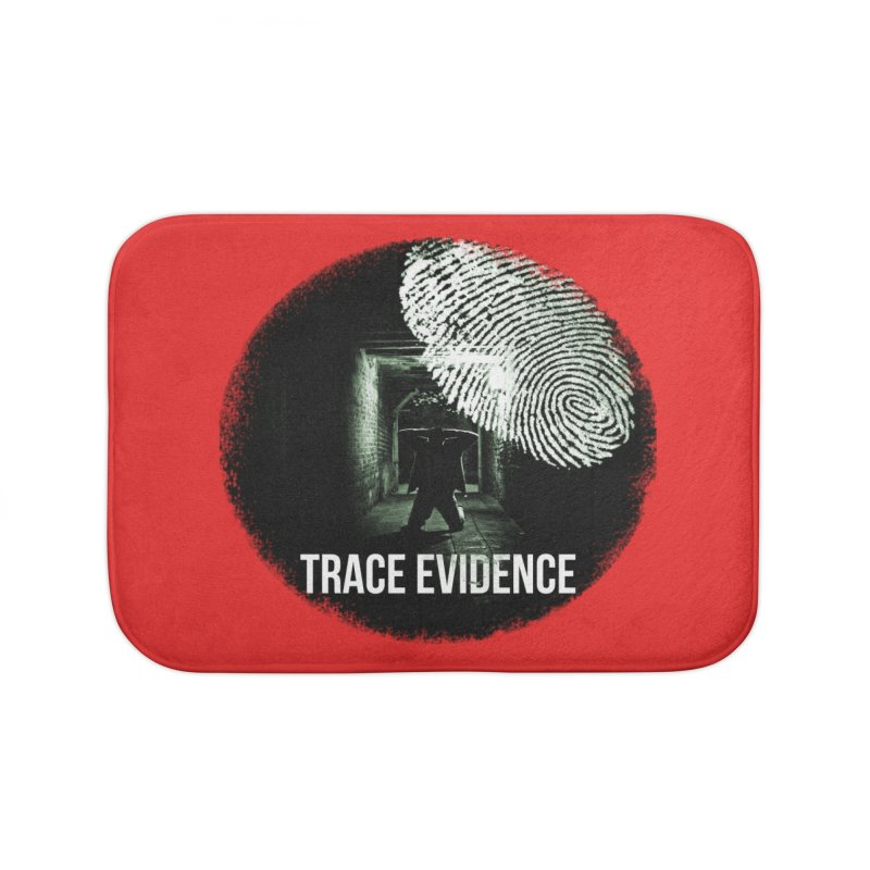 Stressed Logo Home Bath Mat by Trace Evidence - A True Crime Podcast