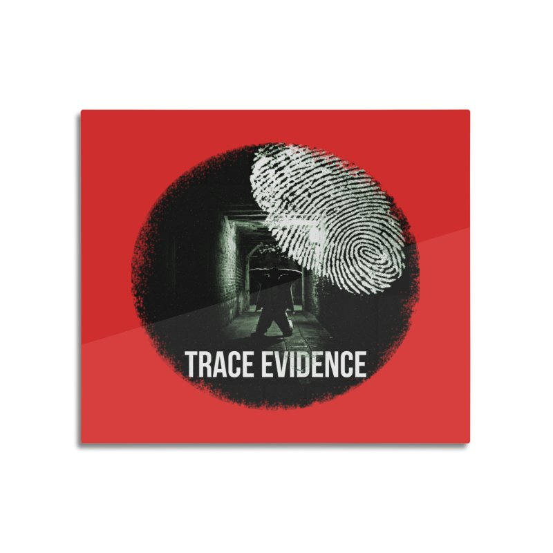 Stressed Logo Home Mounted Aluminum Print by Trace Evidence - A True Crime Podcast