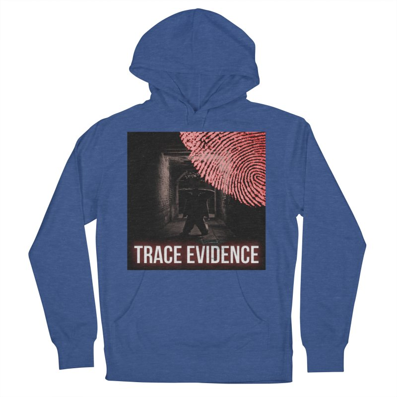 Red Logo Men's French Terry Pullover Hoody by Trace Evidence - A True Crime Podcast