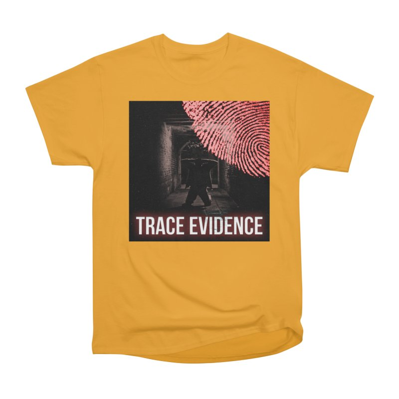 Red Logo Men's Heavyweight T-Shirt by Trace Evidence - A True Crime Podcast