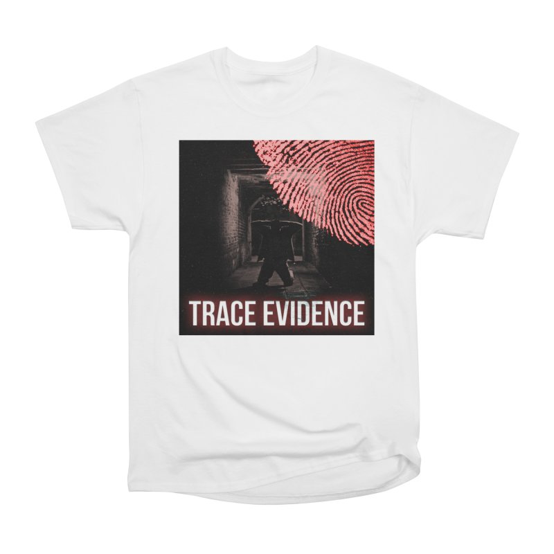 Red Logo Women's Heavyweight Unisex T-Shirt by Trace Evidence - A True Crime Podcast