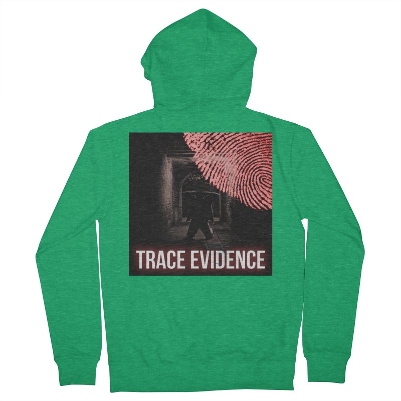 Red Logo Women's Zip-Up Hoody by Trace Evidence - A True Crime Podcast