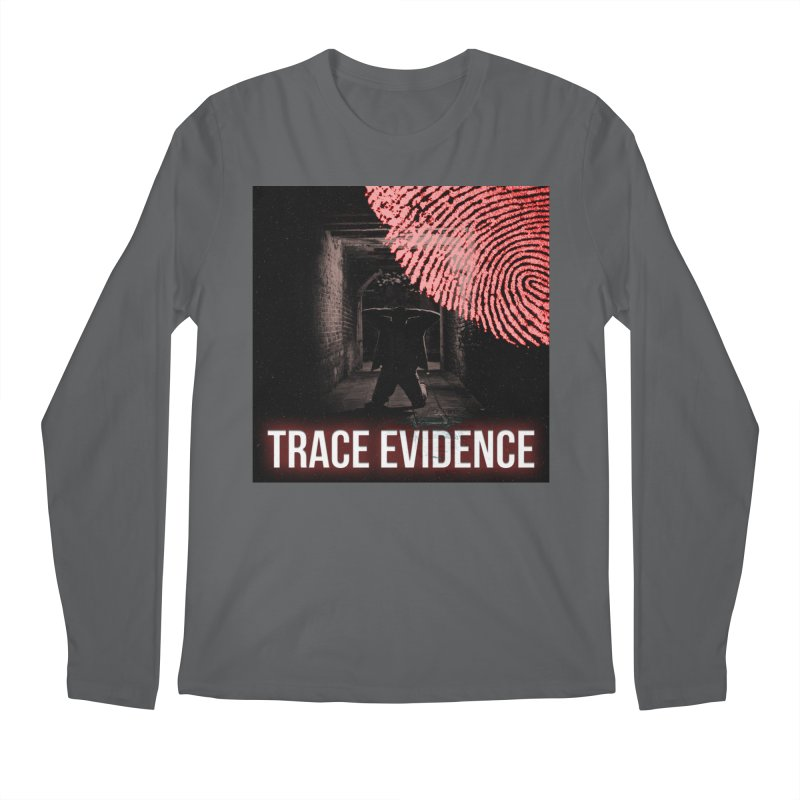 Red Logo Men's Longsleeve T-Shirt by Trace Evidence - A True Crime Podcast